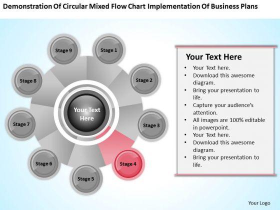 Business Process Flow Diagram Chart Implementation Plans Ppt PowerPoint Slide