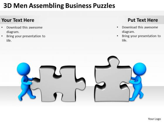 Business Process Flow Diagram Presentation Puzzles PowerPoint Templates Ppt Backgrounds For Slides