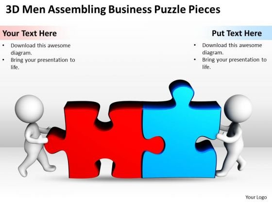 Business Process Flow Diagram Puzzle Pieces PowerPoint Templates Ppt Backgrounds For Slides