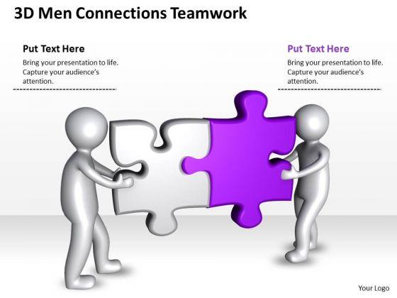 Business Process Flow Diagrams 3d Men Connections Teamwork PowerPoint Templates