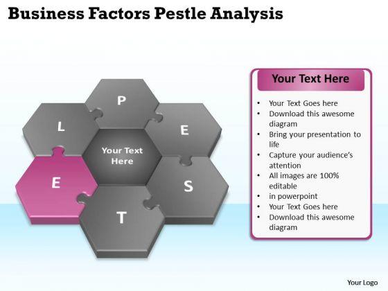Business Process Flow Diagrams Pestlel Analysis Model PowerPoint Templates