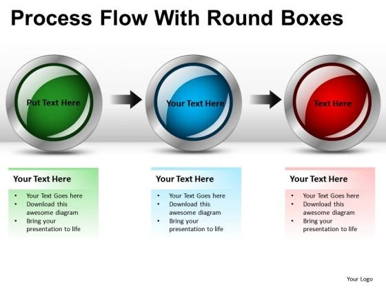 Business Process Flow With Round Boxes PowerPoint Slides And Ppt Diagram Templates