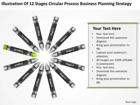 Business Process Flowchart Circular Planning Strategy PowerPoint Templates
