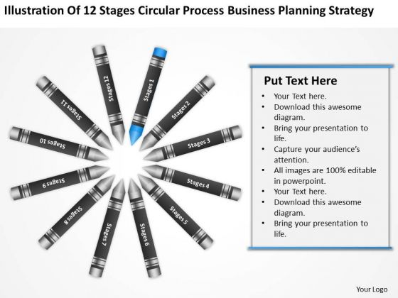 Business Process Flowchart Circular Planning Strategy Ppt PowerPoint Templates