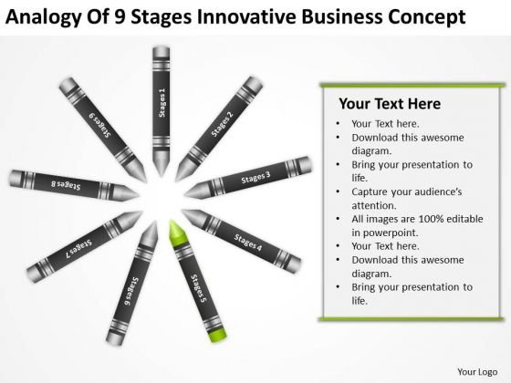 Business Process Flowchart Examples Of 9 Stages Innovative Concept PowerPoint Slide