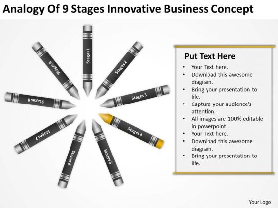 Business Process Flowchart Examples Of 9 Stages Innovative Concept PowerPoint Slides