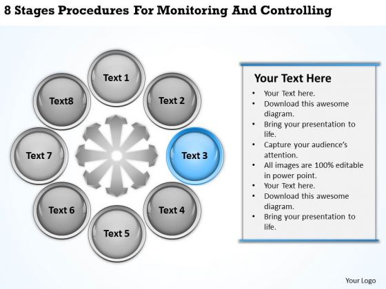 Business Process Flowchart Procedures For Monitoring And Controlling Ppt PowerPoint Templates