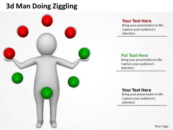 Business Process Management Diagram 3d Doing Ziggling PowerPoint Slides