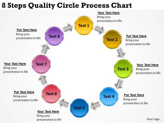 Business Process Management Diagram 8 Steps Quality Circle Chart PowerPoint Slides