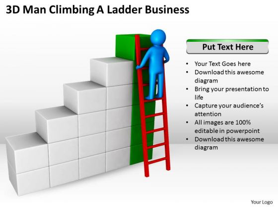 Business Process Management Diagram Ladder World PowerPoint Templates Slides