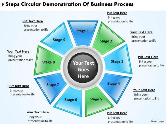 Business Process Management Diagram PowerPoint Templates Download Slides