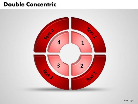 Business Process PowerPoint Templates Business 3d Double Concentric Rings Pieces Ppt Slides