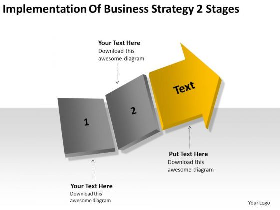 Business Process Strategy 2 Stages Ppt Making Plan Template PowerPoint Slides