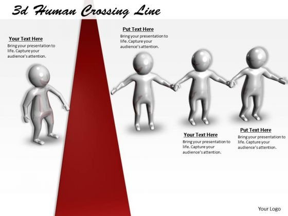Business Process Strategy 3d Human Crossing Line Concept Statement