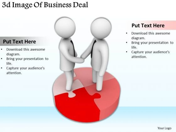 Business Process Strategy 3d Image Of Deal Character