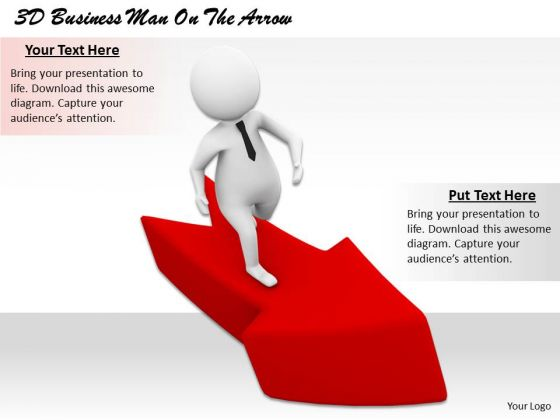 Business Process Strategy 3d Man On The Arrow Concept