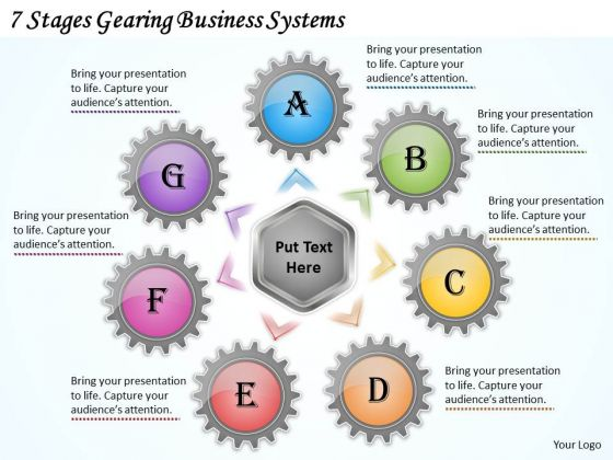 Business Process Strategy 7 Stages Gearing Systems Strategic Plan Format Ppt Slide