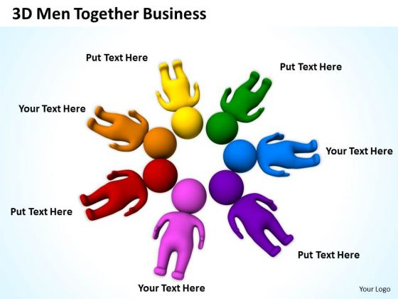 Business Processes 3d Men Together Free PowerPoint Templates Slides