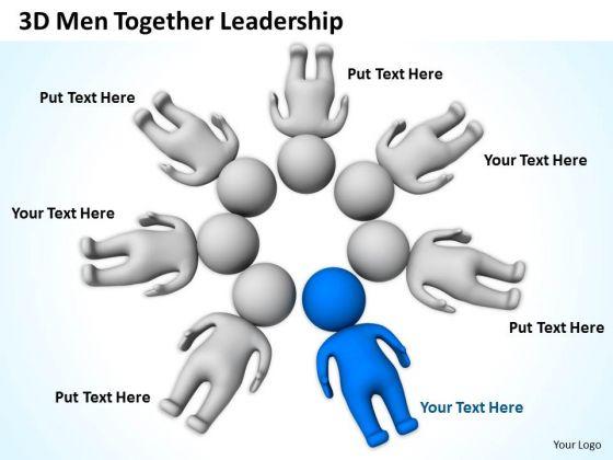 Business Processes 3d Men Together Leadership PowerPoint Slides
