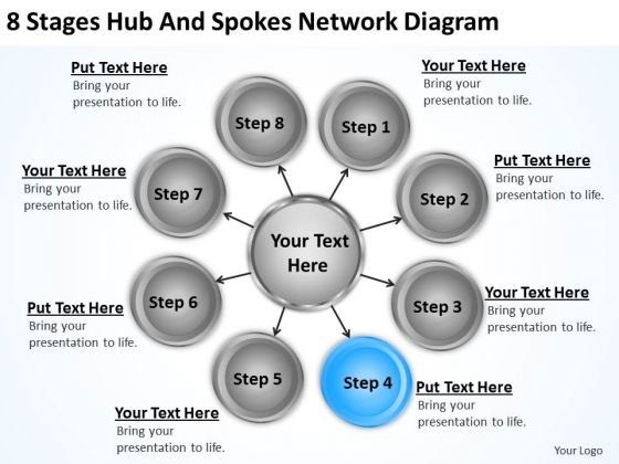 Business Processes 8 Stages Hub And Spokes Network Diagram Ppt 5 PowerPoint Slides