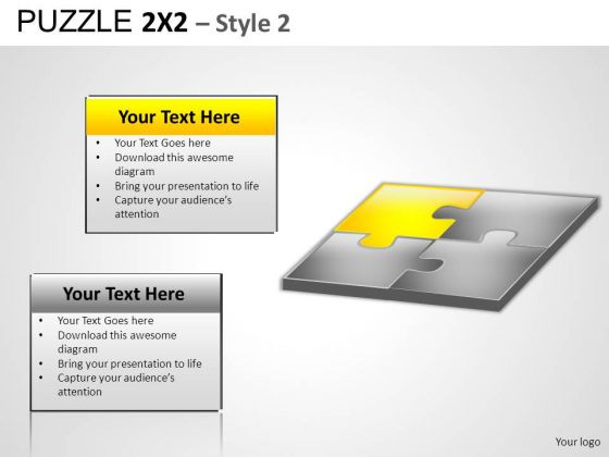 Business Puzzle 2x2 2 PowerPoint Slides And Ppt Diagram Templates