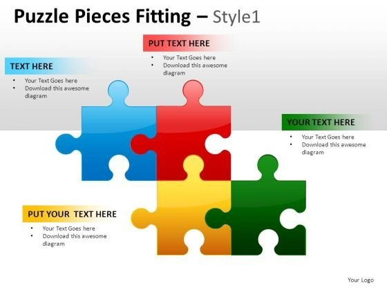 Business Puzzle Pieces Fitting 1 PowerPoint Slides And Ppt Diagram Templates