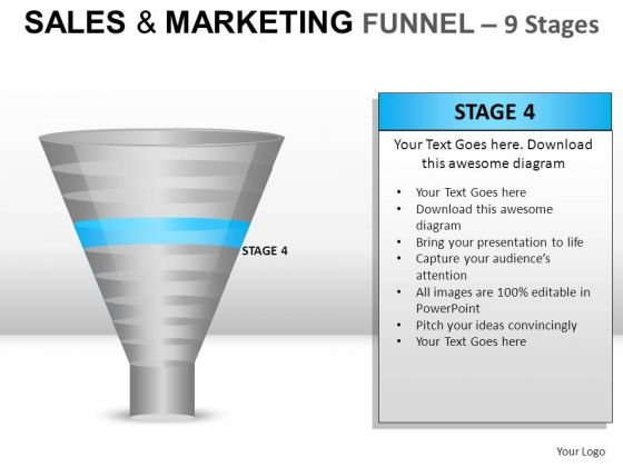 Business Sales And Marketing Funnel 9 PowerPoint Slides And Ppt Diagram Templates