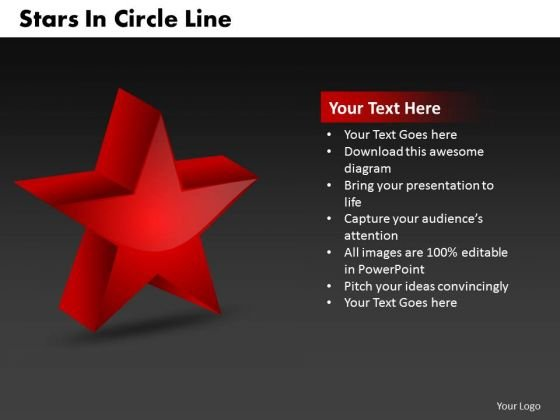 Business Signs PowerPoint Templates Business Stars In Circle Line Ppt Slides