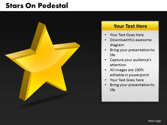 Business Signs PowerPoint Templates Business Stars On Pedestal Ppt Slides