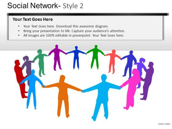 Business Social Network 2 PowerPoint Slides And Ppt Diagram Templates