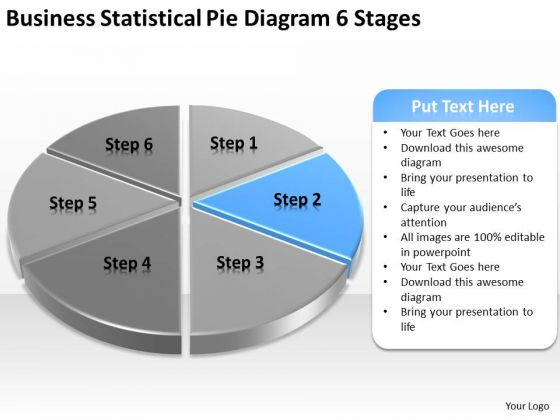 Business Statistical Pie Diagram 6 Stages Plan Consulting PowerPoint Slides