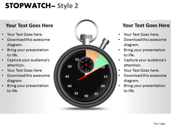 Business Stopwatch 2 PowerPoint Slides And Ppt Diagram Templates