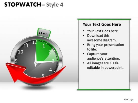 Business Stopwatch 4 PowerPoint Slides And Ppt Diagram Templates