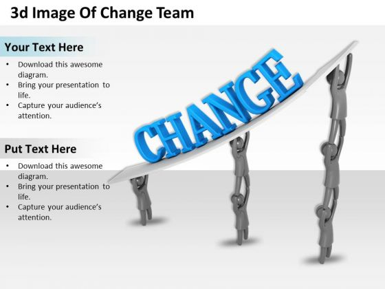 Business Strategy 3d Image Of Change Team Characters