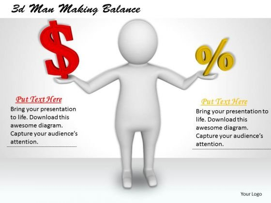 Business Strategy 3d Man Making Balance Basic Concepts