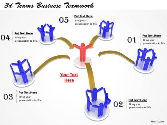 Business Strategy 3d Teams Teamwork Concepts