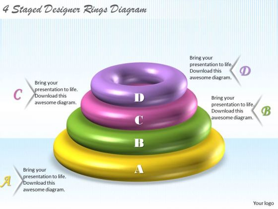 Business Strategy 4 Staged Designer Rings Diagram Strategic Plan Outline Template