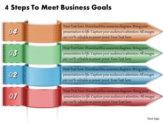 Business Strategy 4 Steps To Meet Goals Strategic Plan Example Ppt Slide