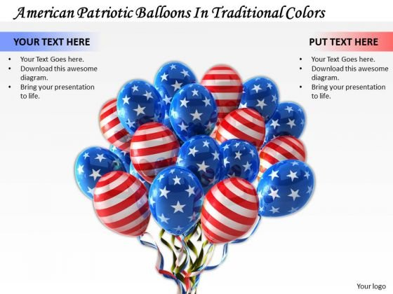 Business Strategy American Patriotic Balloons Traditional Colors Clipart