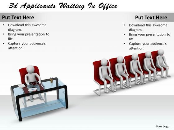 Business Strategy And Policy 3d Applicants Waiting Office Adaptable Concepts