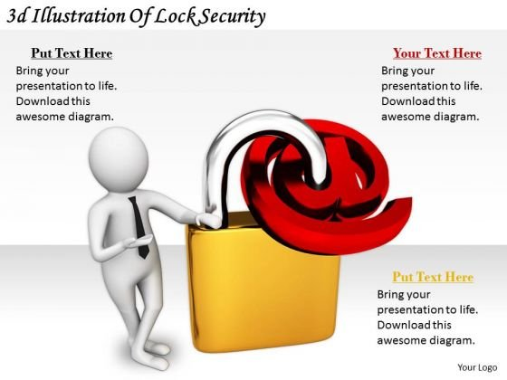 Business Strategy And Policy 3d Illustration Of Lock Security Adaptable Concepts