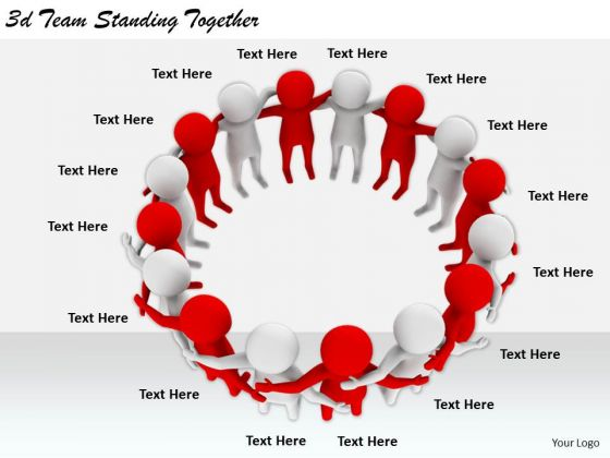 Business Strategy And Policy 3d Team Standing Together Concept