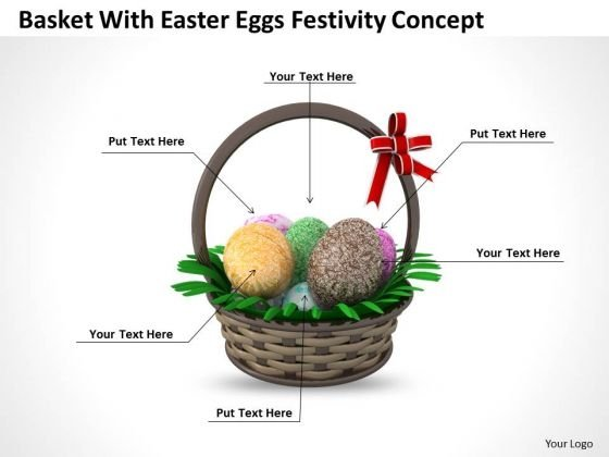 Business Strategy And Policy Basket With Easter Eggs Festivity Concept Image