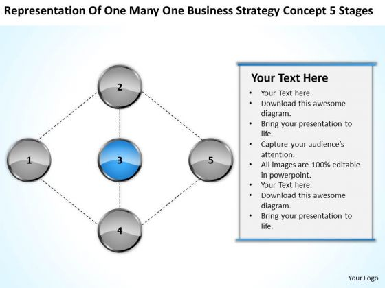 Business Strategy Concept 5 Stages Ppt How To Write Small Plan PowerPoint Templates