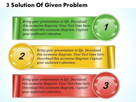 Business Strategy Concepts 3 Solution Of Given Problem Strategic Planning Process Template Ppt Slide