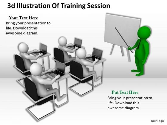 Business Strategy Concepts 3d Illustration Of Training Session
