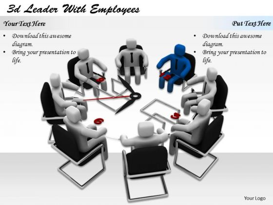 Business Strategy Concepts 3d Leader With Employees