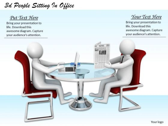 Business Strategy Concepts 3d People Sitting Office Adaptable