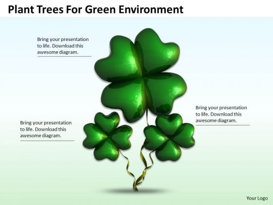 Business Strategy Concepts Plant Trees For Green Environment Images