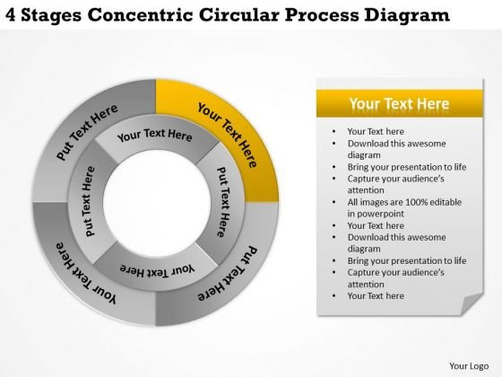 Business Strategy Concepts Stages Concentric Circular Process Diagram Plan